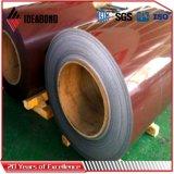 Bobine en aluminium enduite par couleur chaude principale de vente de qualité en stock
