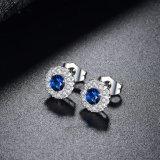 Eingriff, der blauen Zircon-Stein-Stift-Schmucksache-Ohrring Wedding ist