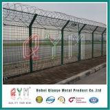 Загородка тюрьмы загородки безопасности авиапорта с проводом бритвы