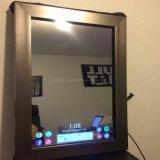 Волшебное зеркало рекламируя медиа-проигрыватель экрана MP4 для ванной комнаты или зеркала состава отдела косметик Surpermaket