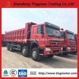 12 바퀴 25cubics 중국 HOWO 덤프 트럭, 멋진 효율성을%s 가진 팁 주는 사람