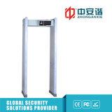 La representación visual del detector de metales del capítulo de puerta alarma el detector de trabajo de la frecuencia 100