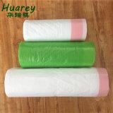 HD/LDPE Cordão Saco Plástico de lixo reciclado, lixo o saco plástico com cordão ajustável