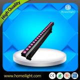 Lumière extérieure de fond de publicité de la lumière RVB de la lumière DEL de rondelle de mur de la qualité 18PCS*3W DEL