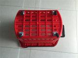 Panier à provisions en plastique en gros avec à quatre roues