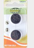 3V de Cel van de Knoop van de Batterij van het lithium voor Schaal (CR2016)