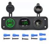 1つの5V 3.1Aユニバーサル車2つのポートUSBの充電器+デジタルLED電圧計+タバコのライターのソケットに付き3つ