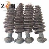 Cor Natural bruto desenhada Natural Cabelos Indiano Extensão de cabelo humano