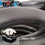 Pneumático da motocicleta da borracha butílica e câmara de ar naturais (4.10-18)