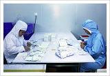 Kits descartáveis médicos para raspar a pele do paciente