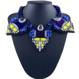 方法すべてマッチのダイヤモンドミラーのハンドメイドの革女性ネックレス