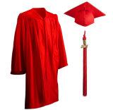 Blanc brillant enfants robe de graduation