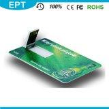Очень тонкий привод вспышки USB кредитной карточки с печатью полного цвета (EC008)