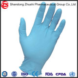Gants libres de nitriles de poudre médicale bleue remplaçable de fonctionnement