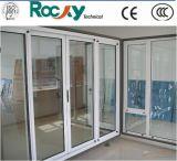 Aluminium de haute qualité porte battante en verre