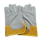 10,5-дюймовый желтого цвета зимней Cowhide кожаные перчатки для работников
