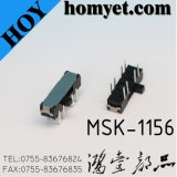 Interruptor de desligamento Dpdt de 8 pinos de alta qualidade de alta qualidade (MSK-1156)