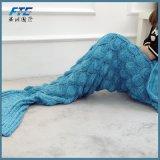 Lanas combinadas de la cola de la sirena de la sirena para estilo de la cubierta del sofá el nuevo