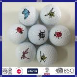 Оптовым шар для игры в гольф напечатанный логосом для подарка