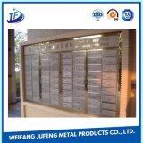 Nach Maß Metallstahlmessingblatt, das Teile für Mailbox stempelnd locht