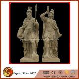 Granito natural / mármore Figura de pedra esculpida / Estátua de animais / Escultura para jardim / Decoração exterior