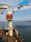 2.5t22m 유압 너클 망원경 붐 기중기 바다 배 갑판 기중기