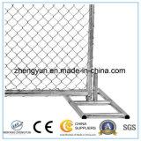 панель загородки звена цепи 6 ' x10 портативная с ногами для сбывания