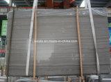 Tuile de marbre grise en bois d'Athen de revêtement normal de mur en pierre