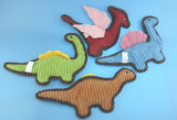 Jouet bourré mou de crabot de jouet d'animal familier de jouet de ramassage de dinosaur de peluche avec le ferraillement à l'intérieur de 4 Asst