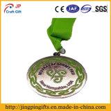 Médaille faite sur commande en métal de forme irrégulière de qualité avec la lanière