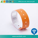 One Time Use Ntag213 RFID Vinyl Wristband for Festival