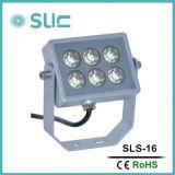 DC12V Single LED Couleur Aluminium Matériau 3.8W Silver Spot Light IP65 peut être utilisé sur le mur, l'illumination de la ville