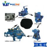 高品質の工場価格の不用なタイヤのリサイクルプラントタイヤの寸断機械1つの年の保証