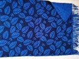 カシミヤ織のウール可逆プリントショール