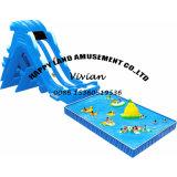Trasparenza di acqua gonfiabile del raggruppamento di sostegno della spiaggia per il parco di divertimenti