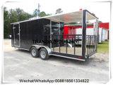 Camion mobile de nourriture de remorque de nourriture de qualité de panneau Re-Enforced par glace à vendre
