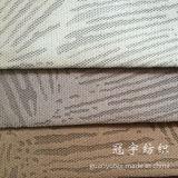 Tissu brûlé de velours côtelé de pile de circuit de débit pour la décoration