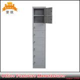 8つのドアの灰色のKd Frunitureの収納キャビネットの金属のロッカー
