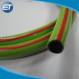 Tubo de água de PVC / mangueira de jardim de náilon macia com um bico de pulverização