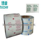 Las partículas y polvo de la lámina de papel de embalaje