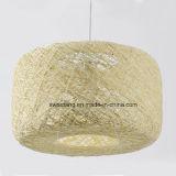 Moderna lámpara colgante colgante de interior simple en Rattan