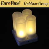 Forma branca LED Wireless Recharageable Tealight Candle Light