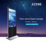 estilo del iPhone quiosco derecho del suelo de 42 pulgadas para la visualización del anuncio del supermercado