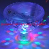 Da lagoa clara subaquática do banho dos TERMAS do partido do disco da piscina da mostra do diodo emissor de luz da cor quente da forma luzes impermeáveis de incandescência em mudança