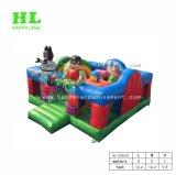 Красочные сельскохозяйственных животных надувной игровой площадкой
