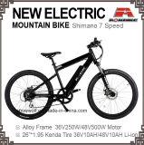 26-дюймовый электрический на горных велосипедах сплава диск 7 скорости электрический
