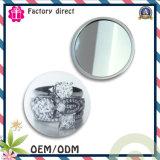 Neuer Entwurfs-Zinnblech-Tasten-Abzeichen-Spiegel, preiswerter Andenken-Taschen-Spiegel