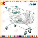 Trole de dobramento do carro de compra do supermercado do mantimento da loja do metal do fio (Zht164)