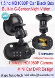 """安く1.5 """" 1.3mega CMOSのカメラ、Gセンサー、1080P光学センサーとの車DVR"""