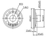haut-parleur de papier 8ohm 0.25W Dxyd50n-16z-8A de cône de 50mm